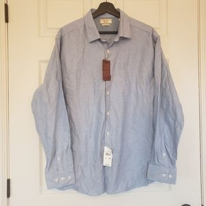 Penguin button up shirt chambray blue